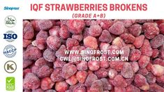 Sinofrost - Frozen Strawberries Brokens Grade A+B - IQF Strawberries Bro. Strawberry Puree, Frozen Strawberries, Bro, Freezing Strawberries