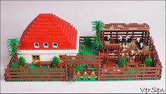 Пригород: загородный дом, ферма и страусиная ферма. | DoubleBrick: Российское сообщество энтузиастов LEGO!