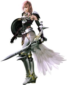Lightning in Final Fantasy XIII-2.