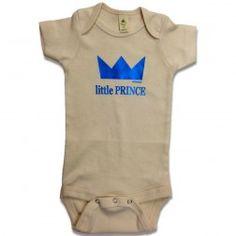 Estella little prince organic cotton short sleeve baby onepiece