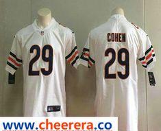 2e8b1126dd8 Men's Chicago Bears #29 Tarik Cohen White 2017 Vapor Untouchable Stitched  NFL Nike Limited Jersey