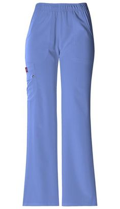 Women's Extreme Stretch Elastic Waist Pull On Pant - Ceil Blue