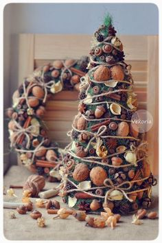 Handmade Home Decor Natural Christmas, Christmas Mood, Noel Christmas, Rustic Christmas, All Things Christmas, Christmas Wreaths, Christmas Ornaments, Mery Crismas, Theme Noel