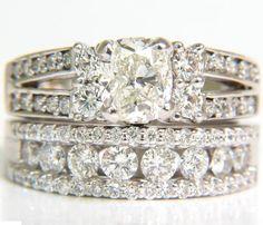 GIA 3.02CT CUSHION BRILLIANT DIAMOND RING