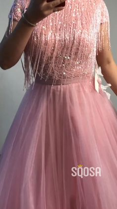 A-Line High Neck Beaded Pink Tulle Long Prom Dress Pink Tulle High Neck Beaded A-line Long Evening Dress,Formal Gowns. Indian Fashion Dresses, Indian Gowns Dresses, Dress Indian Style, Prom Dresses, Formal Dresses, Pink Gowns, Dress Fashion, Stylish Dress Designs, Designs For Dresses