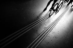 Walk the Line... | Flickr - Photo by Thomas Leuthard. Street photography