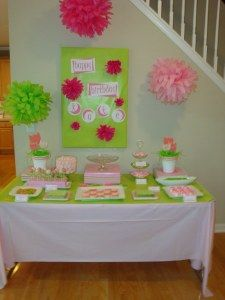 first birthday dessert table