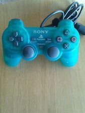 Genuine Sony Playstation Dual Shock  Controller  green SCPH-10010