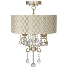 "Conti 14"" Wide Ceiling Light with Hourglass Shade - #Y8391-Y5517 