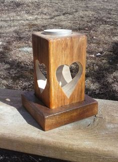 Double Heart Candle Holder, Two Heart Tea Light Candle Holder, Wedding Decor Candle Holder Decor, Tealight Candle Holders, Candleholders, Wooden Lanterns, Candle Lanterns, Diy Wood Projects, Woodworking Projects, Home Candles, Tea Lights