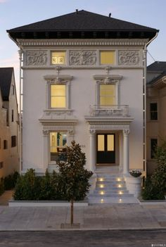 A Tech Billionaire Bought San Francisco's Most Expensive House Beautiful Architecture, Architecture Design, Future House, My House, Town House, Traditional Exterior, Expensive Houses, Facade House, Shabby Chic Homes