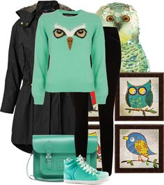 """""""Owl Face"""" by francescacacace ❤ liked on Polyvore"""