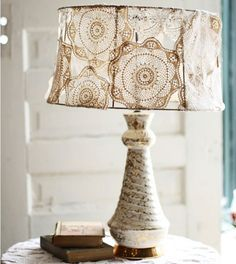 Doily lampshade