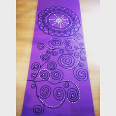 Painted yoga mat ☀️ by PingalaYoga Chile