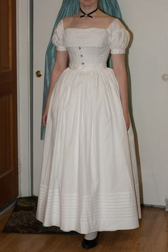 A look at the many layers of petticoats this skirt may need.