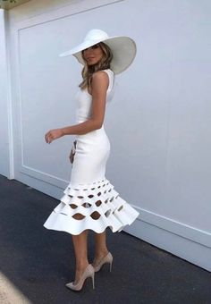 Little White Dress Formal 49 Ideas Elegant Dresses, Cute Dresses, Beautiful Dresses, Formal Dresses, Races Dresses, Little White Dresses, White Outfits, Kentucky Derby Fashion, Kentucky Derby Outfit