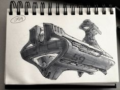 ArtStation - SpaceshipADay 059, Jeff Zugale