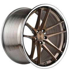 Staggered Vertini Wheels Brushed Bronze with Chrome Lip Rims Custom Rims And Tires, Custom Wheels, Wheels And Tires, Car Wheels, Rims For Cars, Hot Cars, Muscle Car Rims, 20 Inch Rims, Porsche