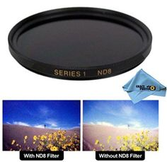 Introducing 55mm High Quality ND8 MultiCoated Neutral Density Filter for Sony Alpha DSLRSLTA65  Grace Photo Microfiber Cleaning Cloth. Great Product and follow us to get more updates!