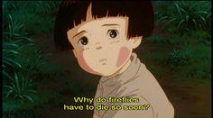 Grave of the Fireflies [火垂るの墓 Hotaru no haka] (Isao Takahata, Studio Ghibli Quotes, Studio Ghibli Art, Studio Ghibli Movies, Hayao Miyazaki, Hotaru No Haka, Personajes Studio Ghibli, Nausicaa, Grave Of The Fireflies, Pixar