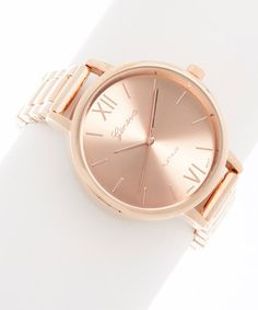 Look what I found on #zulily! Rose Gold Slim Case Bracelet Watch #zulilyfinds