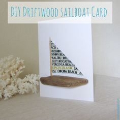 DIY Driftwood Sailboat Card.