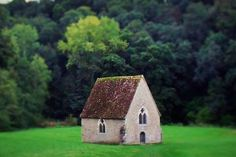 St Aubert's chapel today, home to a lot of legends in Normandy http://www.normandythenandnow.com/the-many-legends-of-saint-ceneri-le-gerei/