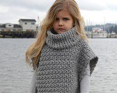 CROCHET Pattern - Aura Pullover (2, 3/4, 5/7, 8/10, 11/13, 14/16, adult S/M, adult L/XL sizes)