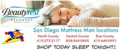 As San Diego's Largest Independant Mattress Dealer, we are committed to two things: Your Comfort and Value.  8081 Balboa Ave. San Diego, CA 92111 Central County 858-569-0890   9747 Mission Gorge Rd  Santee Ca 92071 East County  619-448-0991