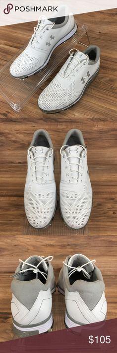 1b342efb0a5e Under Armour Mens Tempo Tour Golf Spikes Shoes New Under Armour Mens Tempo  Tour Golf Spikes