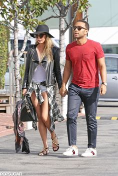 John Legend and Chrissy Teigen went on sweet stroll in LA on Sunday.