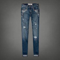 Womens A Super Skinny Jeans | Womens Sparkle & Shine | Abercrombie.com
