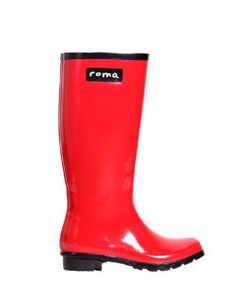 Roma BootsRoma Boots Glossy Red Rain Boots
