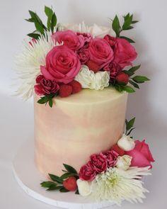 Cheers to this chocolate and raspberry beauty. Diane, I hope it makes your girls' weekend up north extra special! #flowers #hellogorgeous #buttercream #freshflowers #homebaker #undiscoveredbaker #cakeporm #cakeboss #bakeninja #chocolate #chocolatecake #pink #raspberry #cake #dessert #yum #wedding #weddingcake #watercolor #watercolorcake