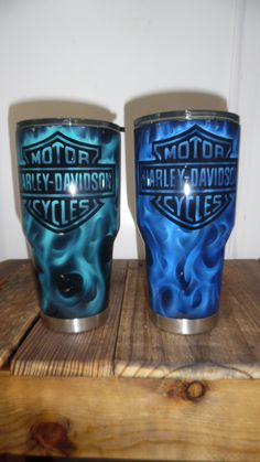 Personalized Yeti tumblers, mailboxes, and helmets by CombsCustomPaint Diy Tumblers, Custom Tumblers, Glitter Tumblers, Acrylic Tumblers, Thermos, Epoxy, Tumblr Cup, Cup Crafts, Yeti Cup