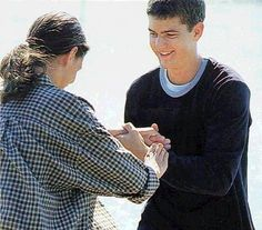 """Joey and Pacey engage in a rousing game of hand-holdage. 