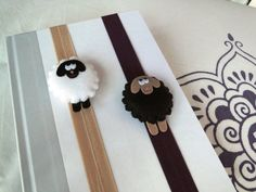 Nov 10th childrens nature event in Heeze - going to work with felt. Looking for examples, like this:    Distracted Lamb Felt Bookmark by Maripili574 on Etsy, $14.00