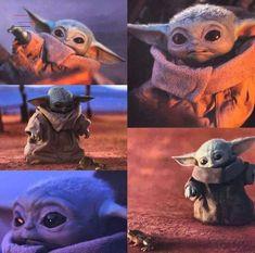 "I watch ""The Mandalorian"" because of baby Yoda. Baby Yoda is soooo cute 😘😍 Star Wars Meme, Star Wars Baby, Star Wars Kunst, Yoda Pictures, Star Wars Brasil, Baby Activity, Wallpapers Wallpapers, Baby Animals, Cute Animals"