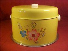 1950's VINTAGE TIN CAKE & PIE SERVER PAN ART DECO by debsgreatfinds2