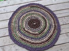 Tuscan Rug 32 Crochet Rag Area Rug Round Medium by CedarLaneFarm