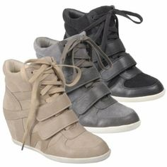 best service 7dcbc f15a3 Amazon.com Hailey Jeans Co Womens Lace-up Wedge High-top Sneakers