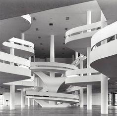 Ciccillo Matarazzo Pavilion in Brazil - 1957. Designed by Oscar Niemeyer. Photo courtesy of arte-sur.