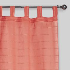 Rose Striped Sahaj Jute Tab Top Curtains Set of 2 - v1