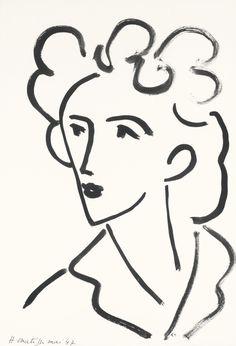tête, marie josé (1947) - henri matisse.