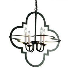shades of light quatrefoil geometric chandelier