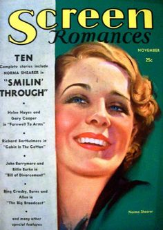 Screen Romances Magazine with Norma Shearer 1932