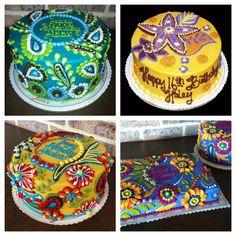 """Vera Bradley"" cakes from   Julia's Homestyle Bakery, Mufreesboro, TN"