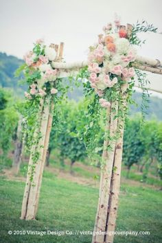 yeah- birch branches on the chuppah is great