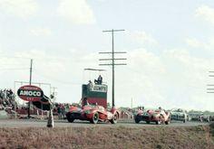 Hill Collins and Hawthorn Von Trips, Ferrari Testa Rossa, Sebring, 1958 Sports Car Racing, Sport Cars, Race Cars, Auto Racing, Vintage Racing, Vintage Cars, Vintage Auto, Sebring Raceway, Ferrari