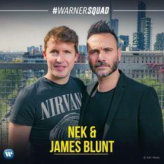 Nek e James Blunt vi aspettano sulla nostra pagina FB dopodomani alle 14:30 per un nuovo episodio di #WarnerSquad! @nekfilipponeviani @jamesblunt #nek #jamesblunt